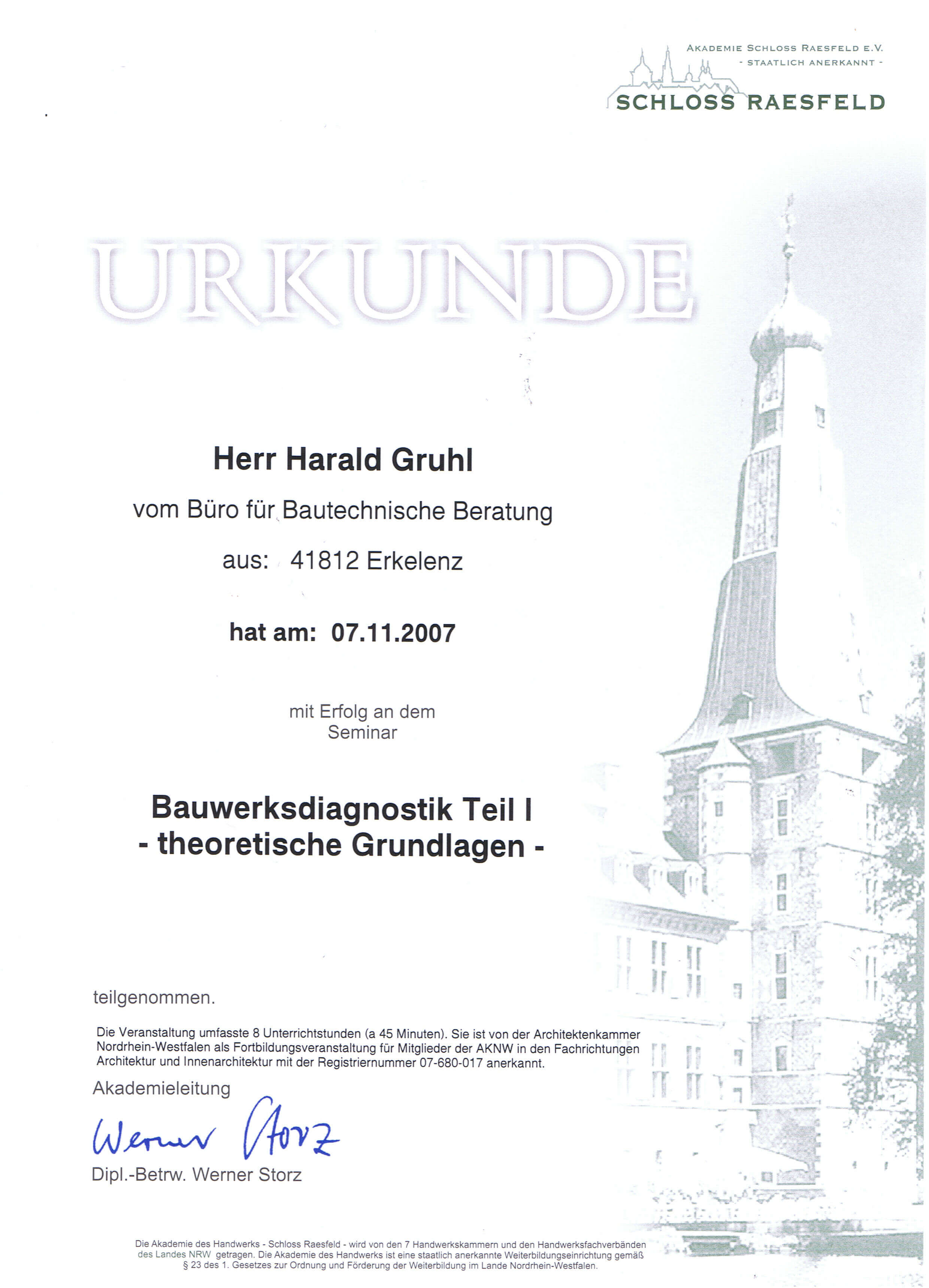 Bauwerkdiagnostik Teil I Harald Gruhl