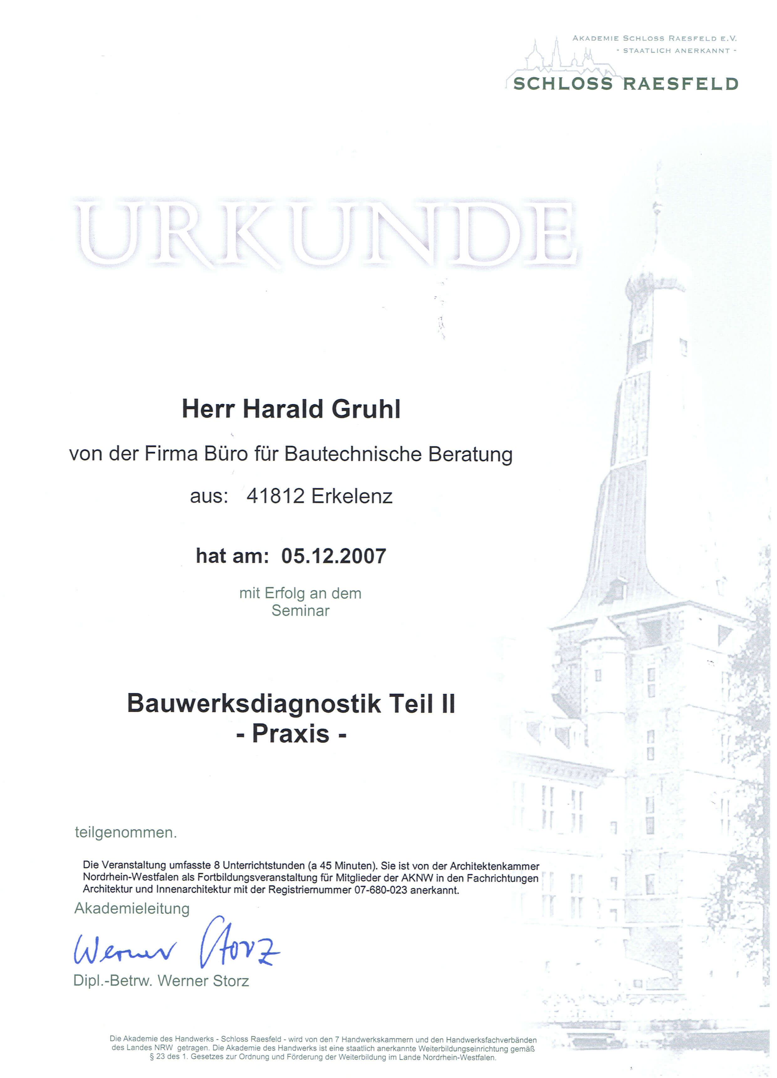 Bauwerkdiagnostik Teil II Harald Gruhl