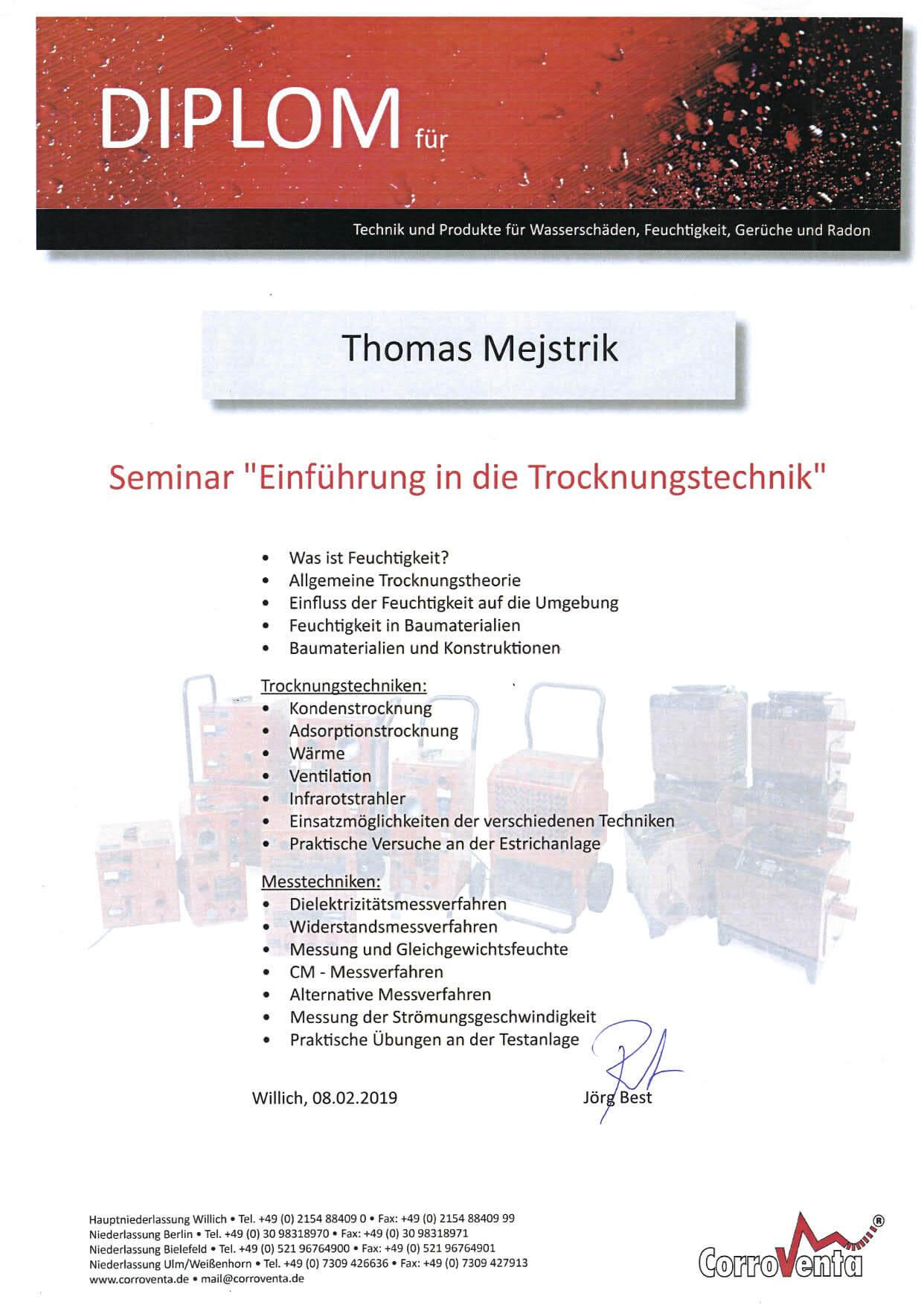 Thomas Mejstrik-Einführung in die Trocknungstechnik